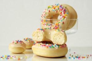 Baked Vegan Yeast Doughnuts