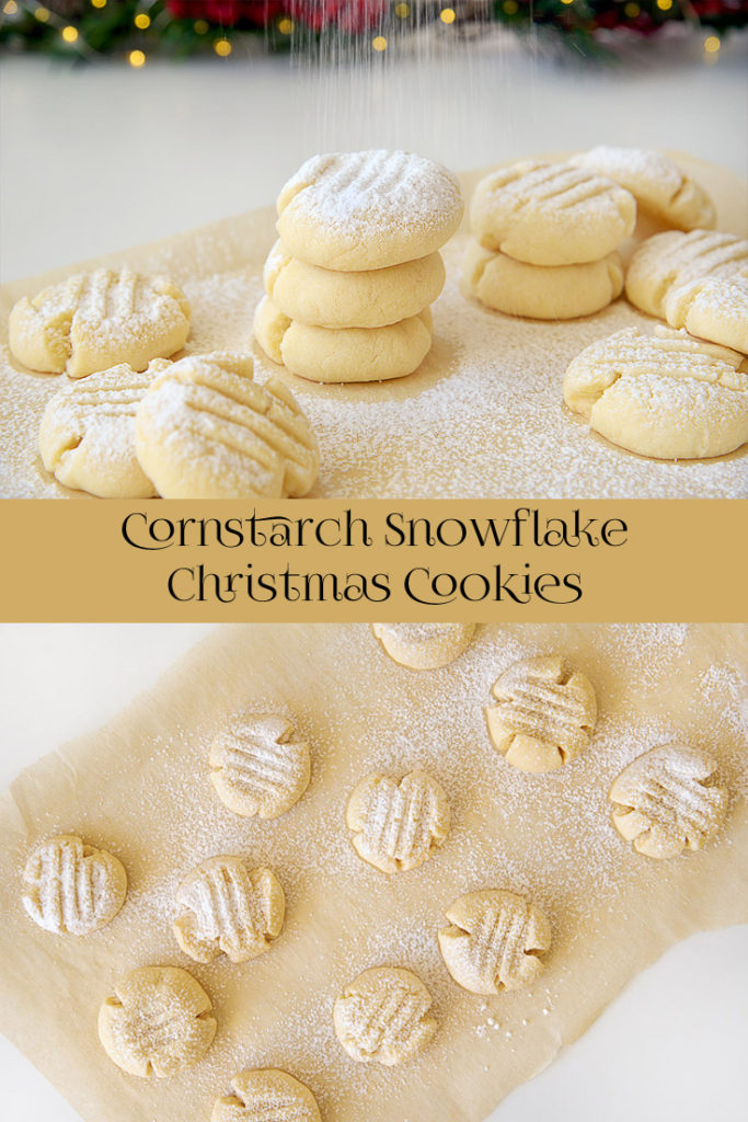 Cornstarch Snowflake Christmas Cookies