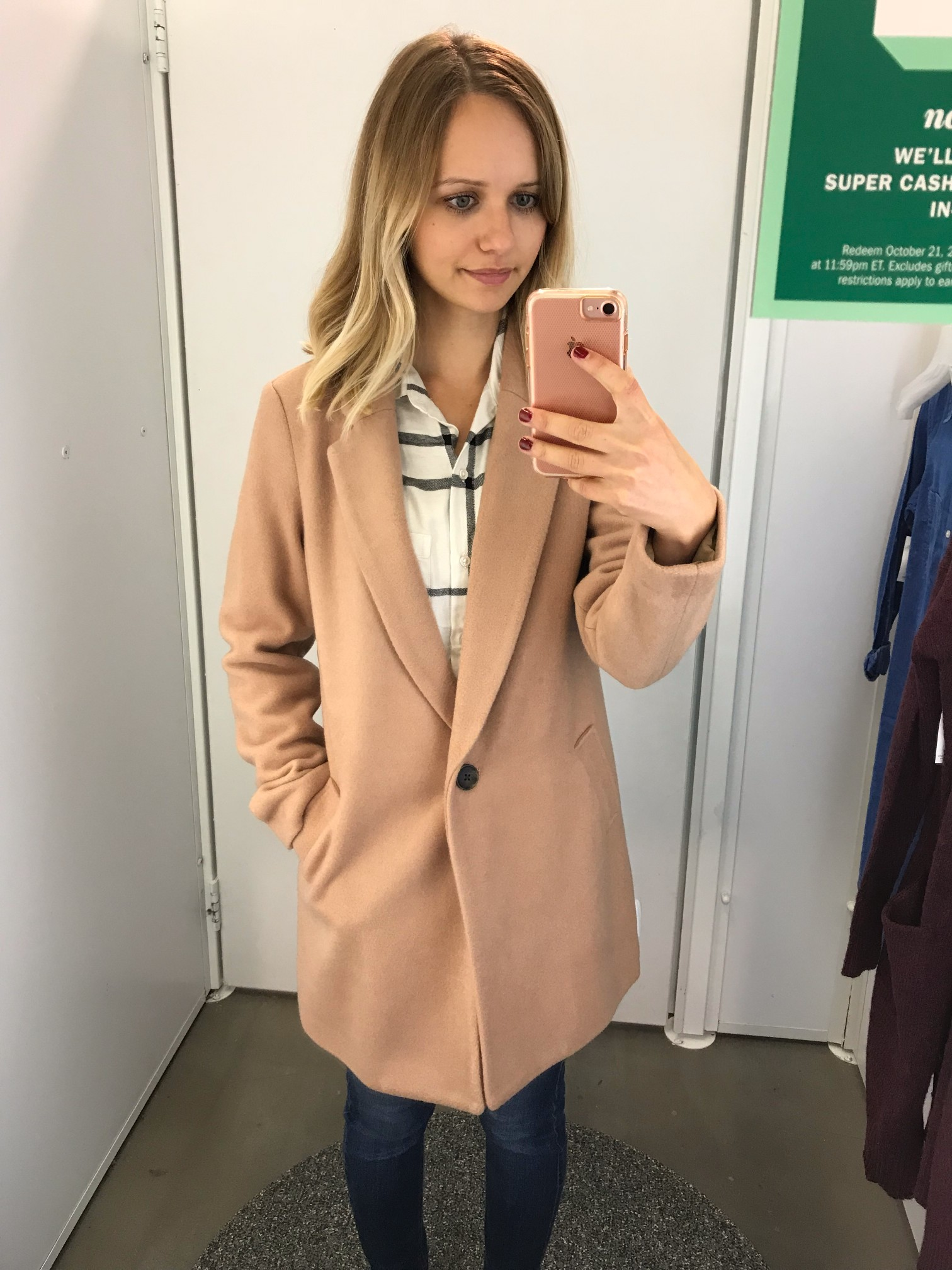 Old Navy Wool-Blend Everyday Coat | Little Things Olga