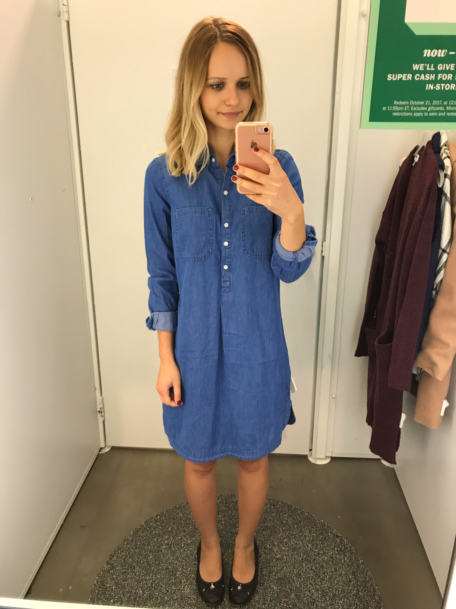 Old Navy Chambray Shirt Dress | Little Things Olga