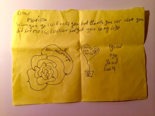Letter from the kids