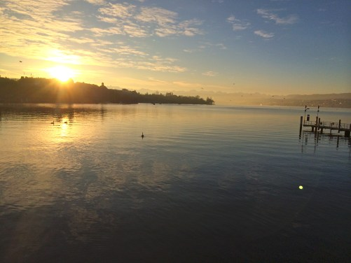 Sunrise in Zurich, Switzerland