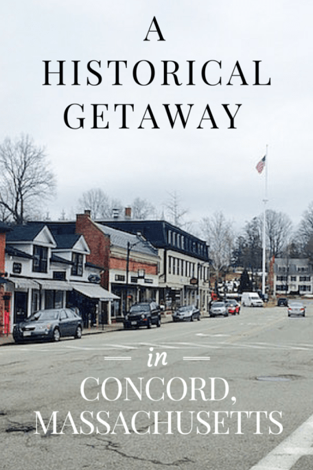 A Historical Getaway in Concord Massachusetts