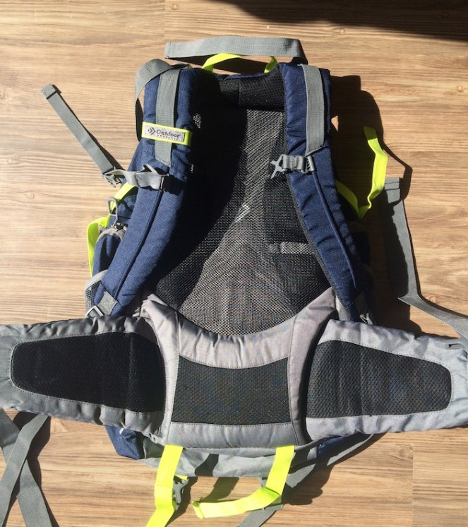 Back Padding Gama Internal Frame Pack