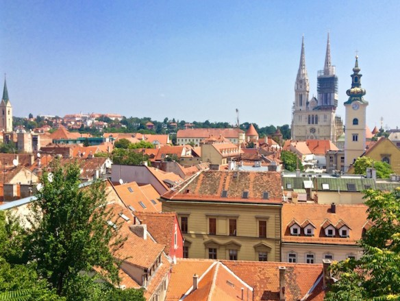 View of Zagreb Croatia
