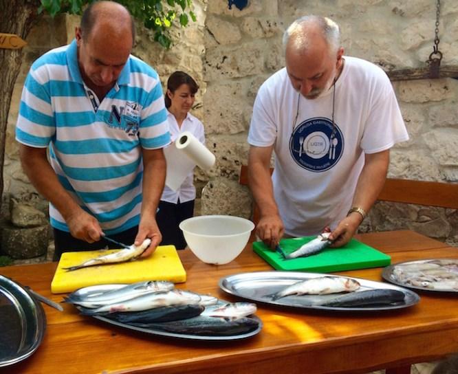 Cooking Fish in Croatia