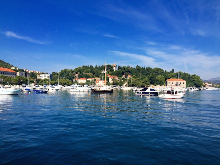 Departing the port of Gruž in Dubrovnik