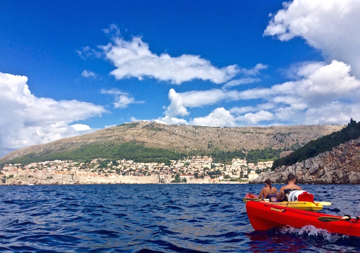Kayaking in Dubrovnik Croatia with Travel Insurance