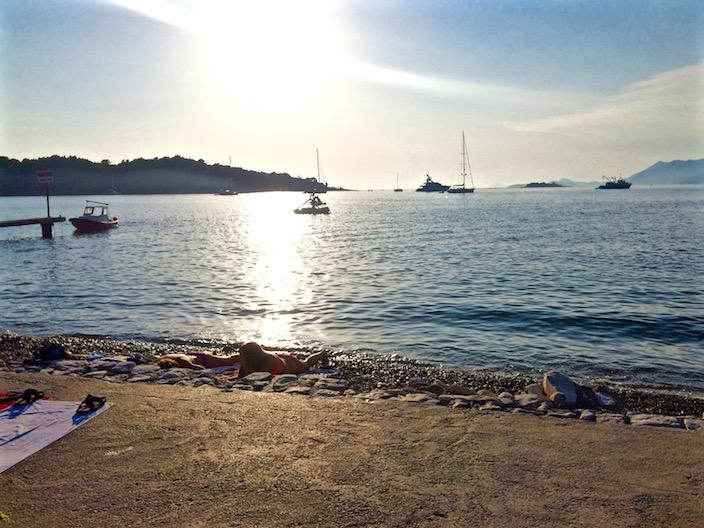 Beach Lounging Cavtat Croatia