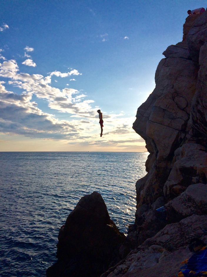 Cliff Jumping Dubrovnik Croatia