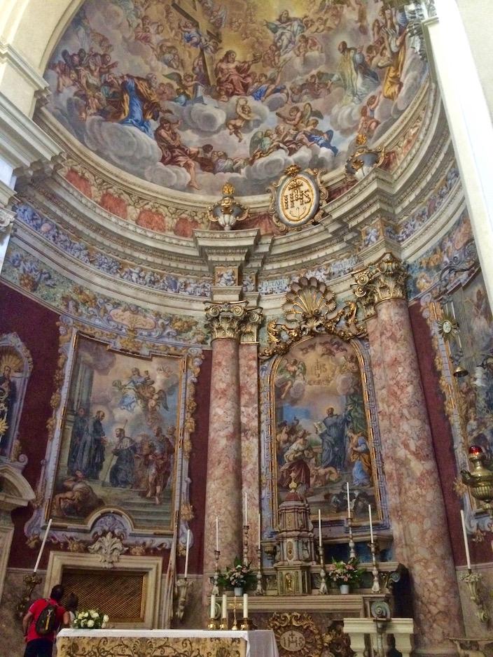St. Ignatius Church dome painting Dubrovnik