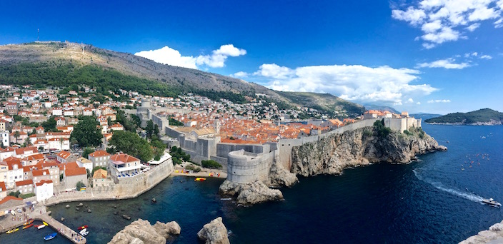View from Fort Lovrijenac Dubrovnik Croatia