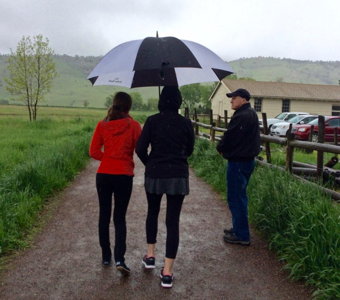 Walking in the rain around Wonderland Lake - Boulder Colorado