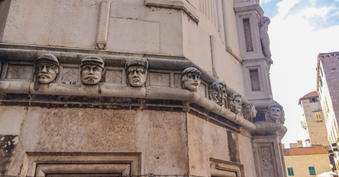 Šibenik Croatia St. James Church Faces