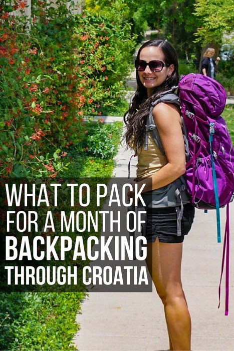 What to Pack for a Month of Backpacking Through Croatia