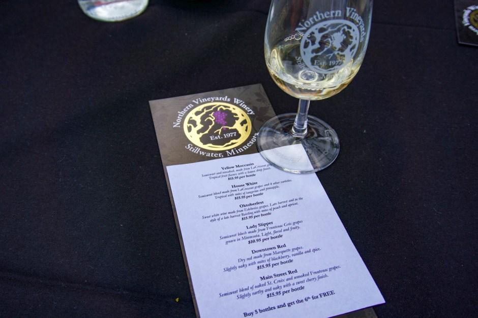 Northern Vineyards Wine Tasting Stillwater