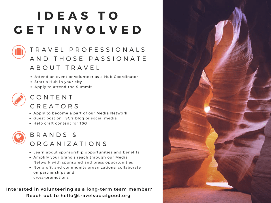 Get Involved Travel+SocialGood