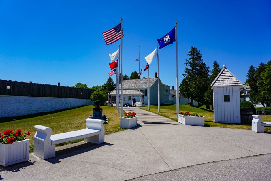 Avenue of Flags Fort Mackinac