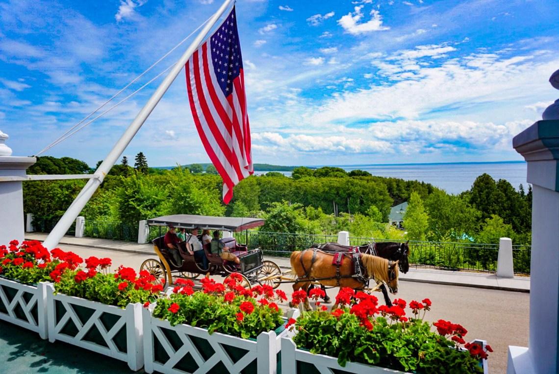 Horse and Carriage Grand Hotel - Mackinac Island Michigan