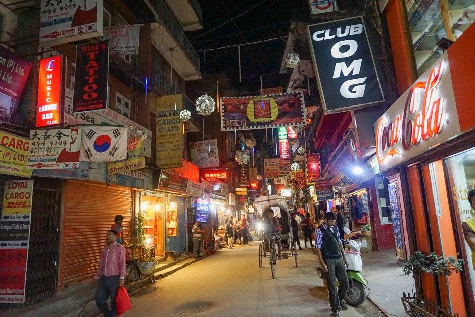 Night in Thamel Kathmandu Nepal