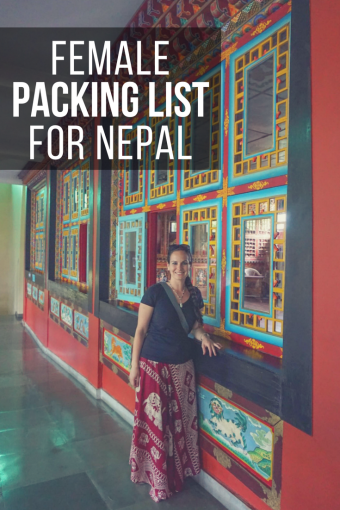 Female Packing List for Nepal for Non-Trekkers