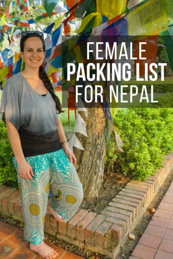 Non-Trekkers Female Packing List for Nepal