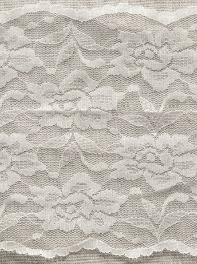 12b7d25eac Galloon Stretch Lace 145mm – White   Black