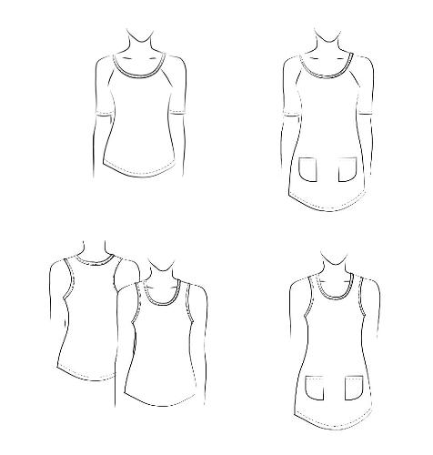 Ladies and Girls T-shirt Raglan Pattern #3245 Jalie Sewing Pattern ...