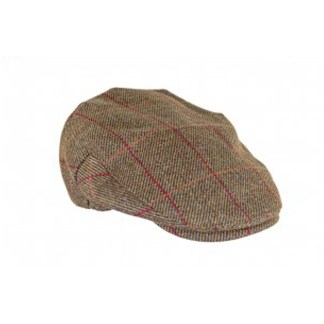 Tweed Hat Red