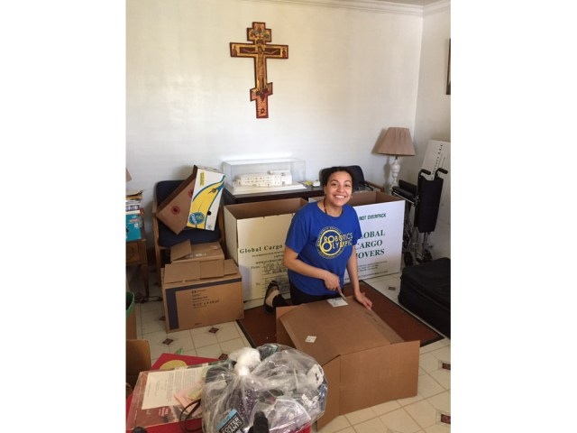 Guilda helping to prepare medical mission
