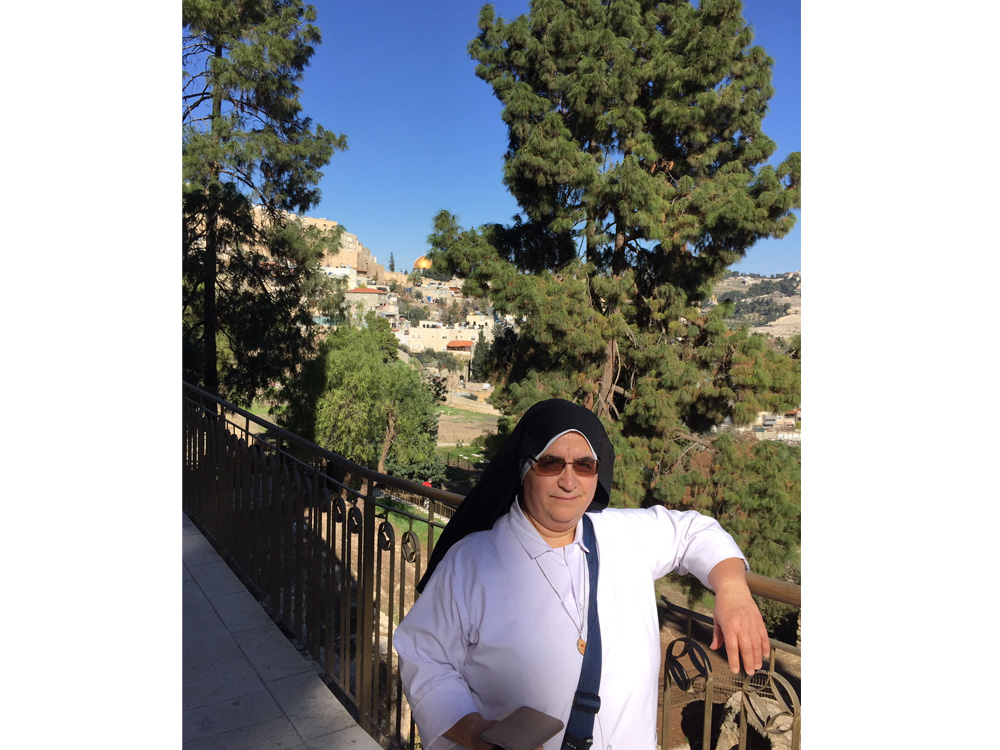 Mother Ada on pilgramage