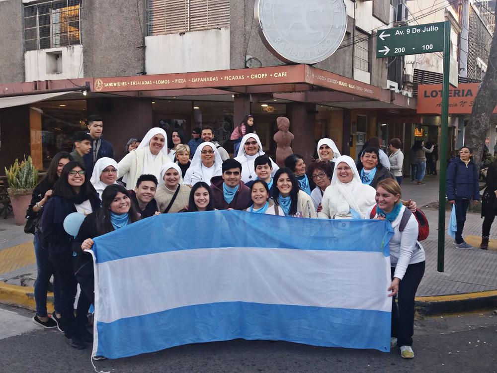 In the March for Life in Argentina (Salvemos las Dos Vidas)