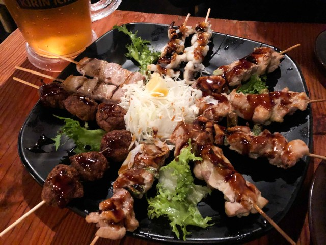 Yakitori skewers from Kenka