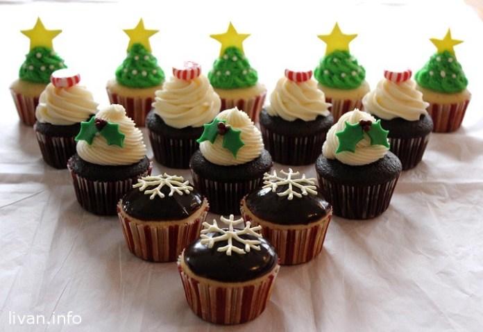Идеи украшения кексов к Рождеству