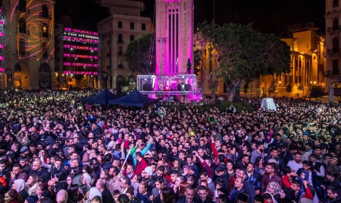 Новый год в Бейруте 2018. Фото.