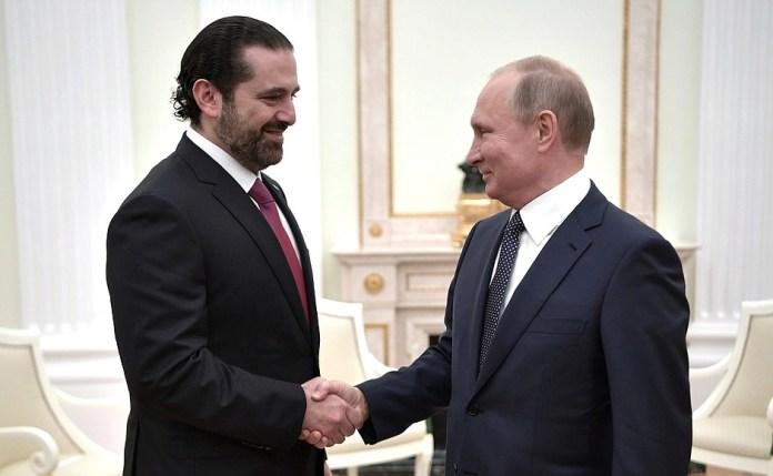 Встреча Саад Харири с президентом России Владимиром Путиным