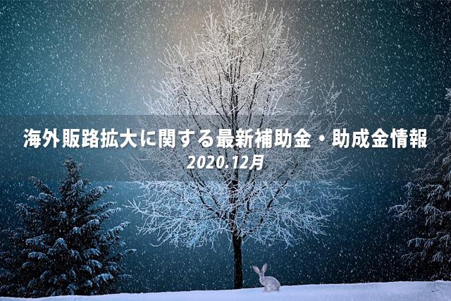 海外販路拡大に関する最新補助金・助成金情報(12月)