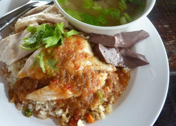 Thai Chicken Rice, Bangkok Street Food, Cheap Eats, Thailand