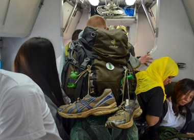 Backpackers on Train, Singapore to Thailand by Train to Bangkok