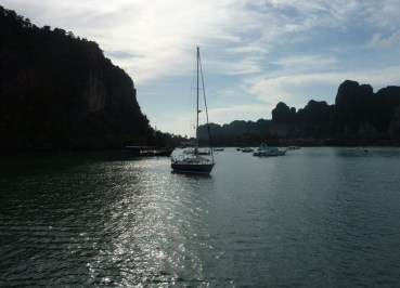 Arriving at Railay Central Pier, Low season in Krabi Thailand, Southeast Asia