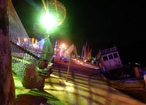 Loh Dalum Beach Night, Low season in Krabi Thailand, southeast asia