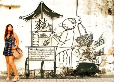 Wall Art in Georgetown, Best Thai VISA Run to Penang Malaysia