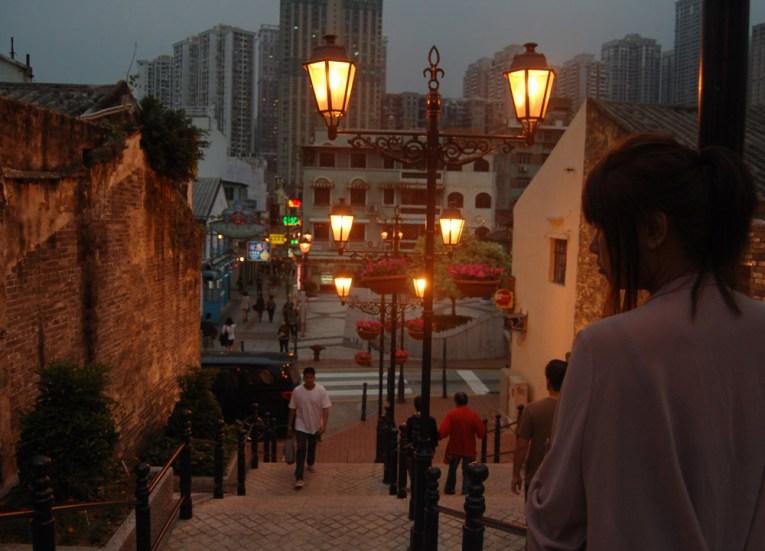 Arriving at Night, Taipa Macau Old Town, Portuguese Colonial Area, SE Asia