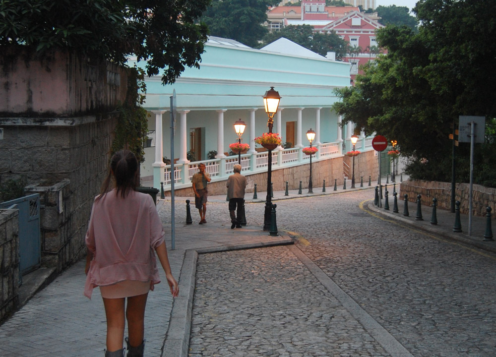 Cobbled Streets, Taipa Macau Old Town, Portuguese Colonial Area, SE Asia