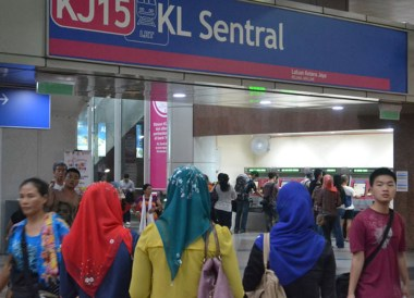KL Sentral Station, Singapore to Thailand by Train to Bangkok