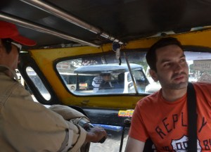 Front Seat of Trike Travel in Manila, Philippines, Southeast Asia
