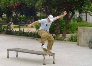 Skateboard Park, Benjasiri Park in Sukhumvit Queens Park, Bangkok