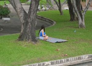Single Girls, Chatuchak Park Bangkok, Park Life in Southeast Asia