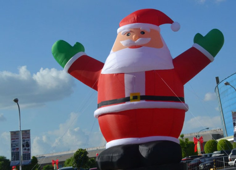 Giant Pinoy Santa for Halloween in Manila, Philippines, Southeast Asia