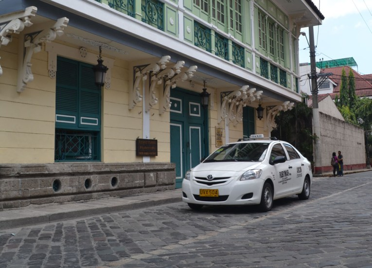 Taxi in Intramuros Area. Manila Tourism, Philippines, Southeast Asia